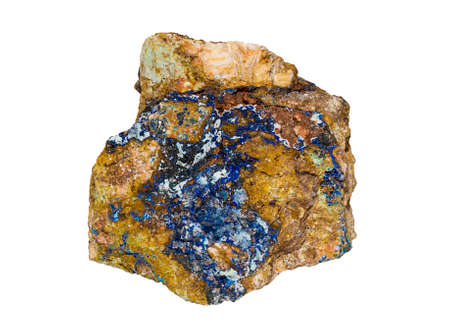 faceting: Deep Blue Azurite from Morocco isolated