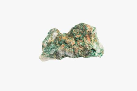 Bright Green Malachite from Morocco, Congo Isolated Stock Photo
