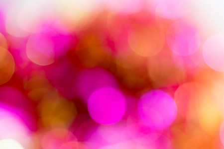 Bright fuchsia bokeh lights. Space for text.