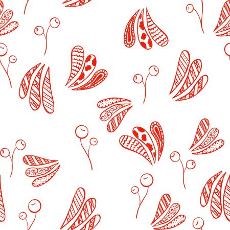 Cranberry abstract seamless pattern surface design for wallpapers and textile.