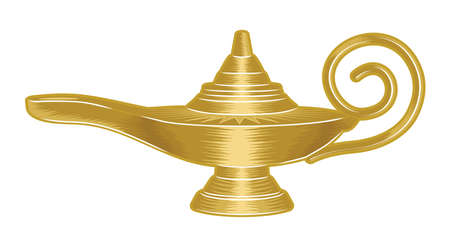 alladin: Magic lamp Illustration