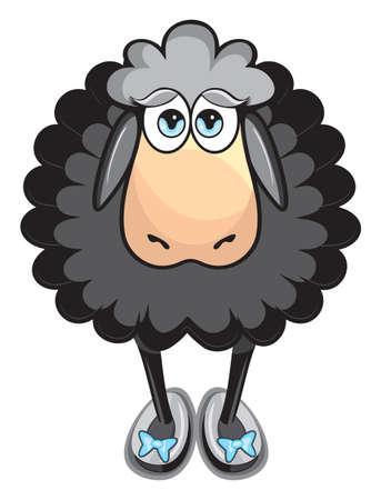 mouton noir: Mignon mouton noir