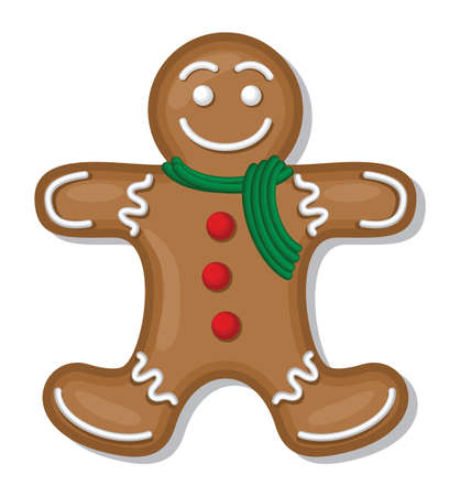 Gingerbread vector Vector