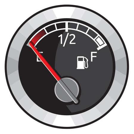 gas gauge: Round Empty Gas Tank Illustration