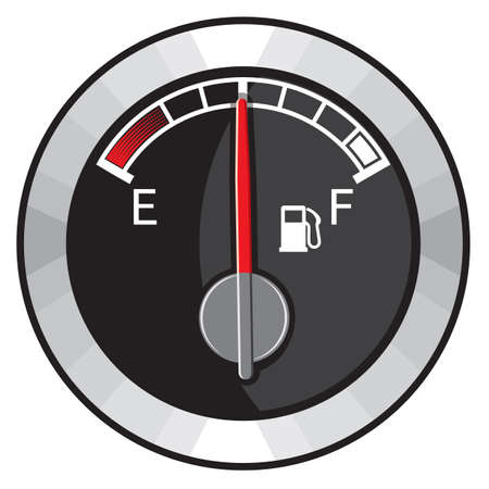 petrol pump: half gas tank Illustration