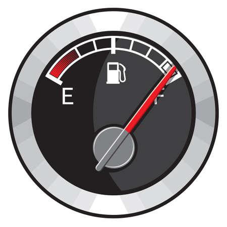 tanque de combustible: Tanque de combustible lleno Vectores