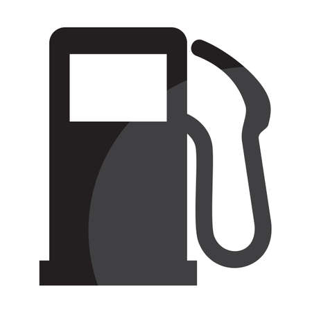 gas station: gas station sign Illustration