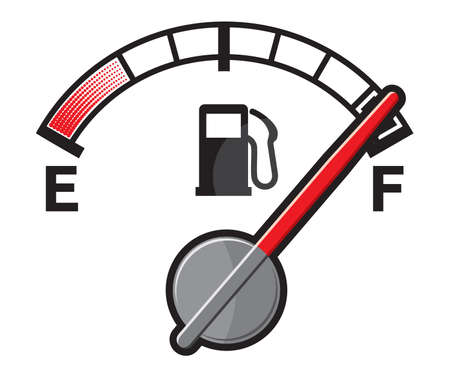 empty tank: Full gas tank Illustration