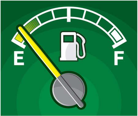 fuel crisis: ECO Green Gas Tank Illustration