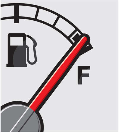 gas pump: Full gas tank Illustration