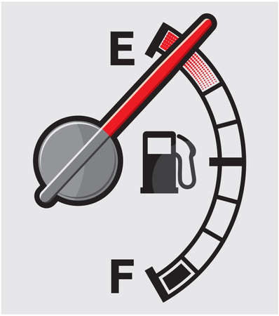 Empty gas tank Vector