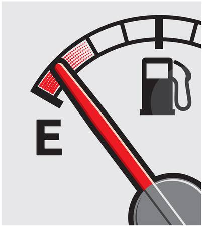 fuel crisis: Empty gas tank Illustration