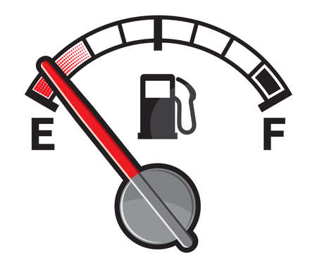petrol pump: Empty gas tank Illustration