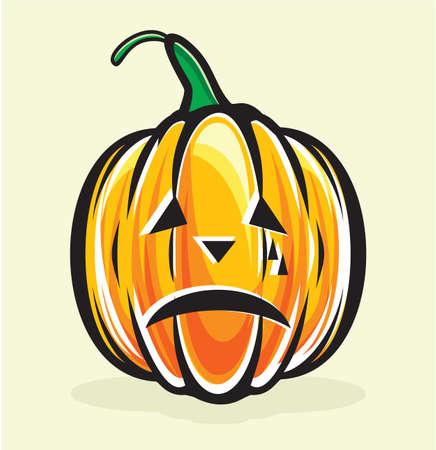 gourd: halloween pumpkin jack lantern Illustration