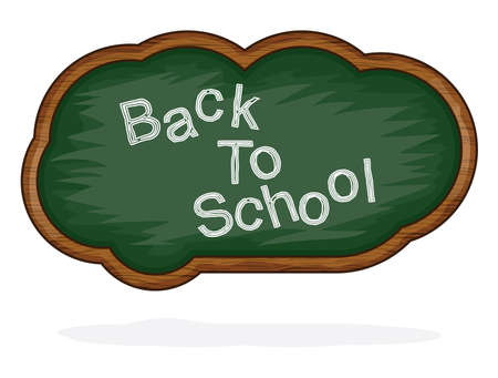 internet class: Blackboard Back to School cloud Illustration