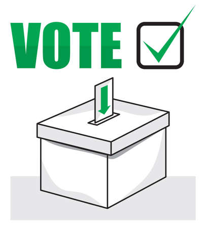 ballot box: election box - ballot box. Vector format is also available in my gallery