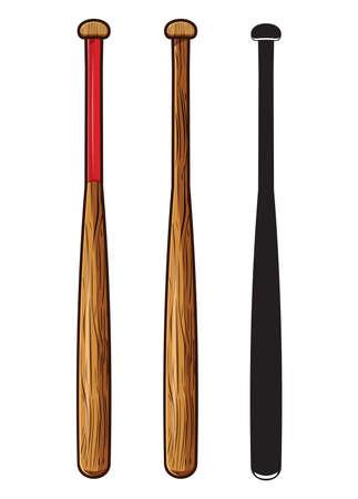 baseball bat isolated on white background Vector