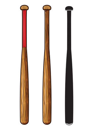 murcielago: bate de béisbol aislado sobre fondo blanco
