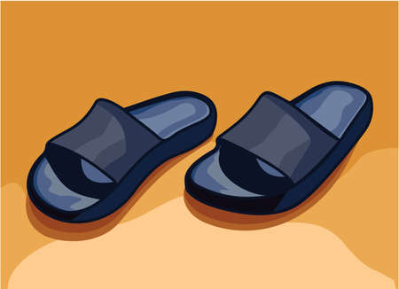 flip flops - slippers Stock Vector - 15770385