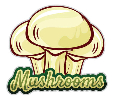 mushroom label design Stock Vector - 15770390