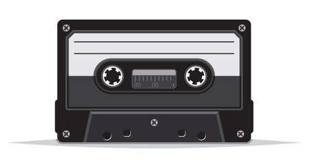 record player: close up of vintage audio tape Illustration