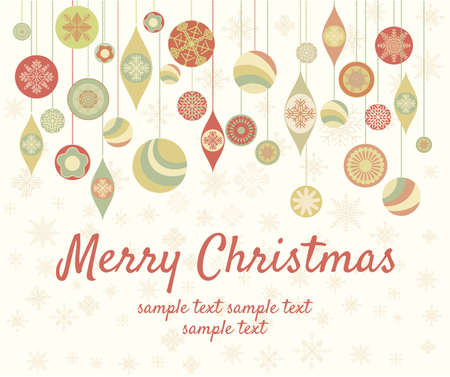 Vintage Merry Christmas Card Stock Vector - 15825660