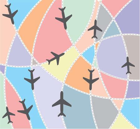 air traffic: Airplane destination routes