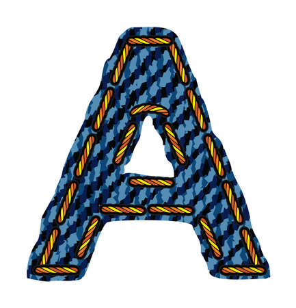 letter of jeans alphabet Vector