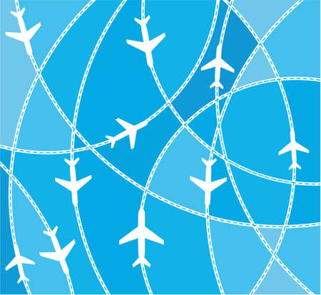 divert: Airplane destination routes