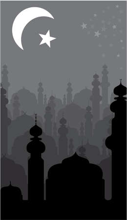 islam moon: abstract religious background