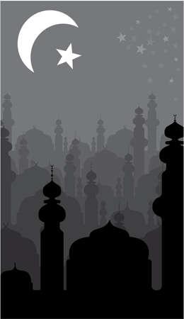 allah: abstrakten religi�sen Hintergrund Illustration