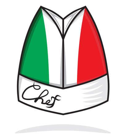 kitchener: Italian chef hat Illustration