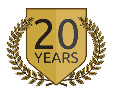 jubilee: laurel wreath 20 years