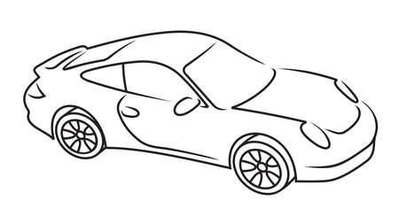 course de voiture: Silhouette de voiture