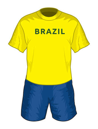Brazil football uniform Vector