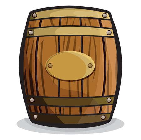 botella de whisky: viejo barril (barril de madera) Vectores