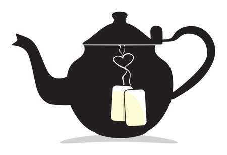 morning tea: Retro teapot
