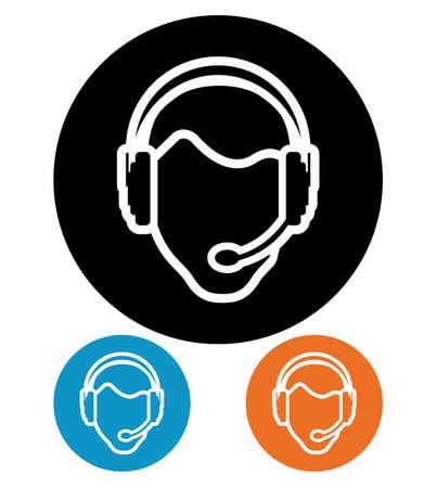 hotline: call center executive pictogram