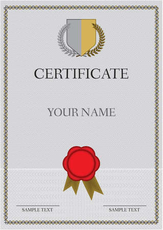 Certificate - Diploma Stock Vector - 15971648