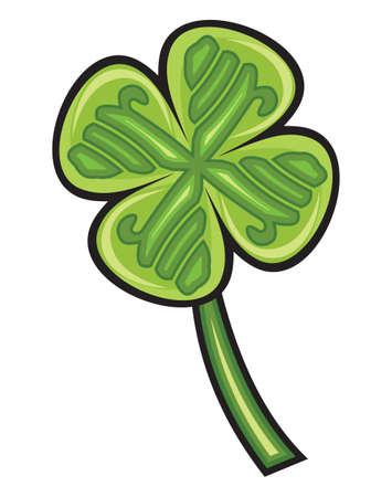four leafs clover: Cuatro hojas de tr�bol Vectores