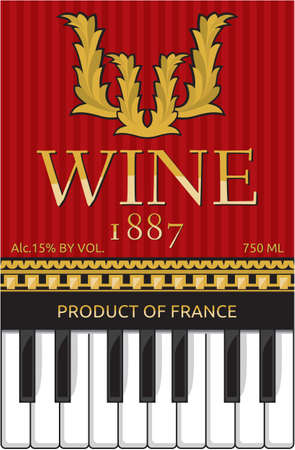 luxury wine label design Vector
