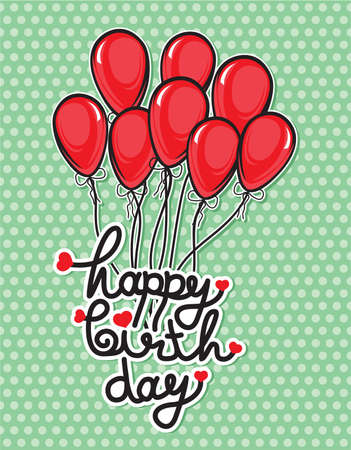 happy birthday balloons: Happy birthday balloons