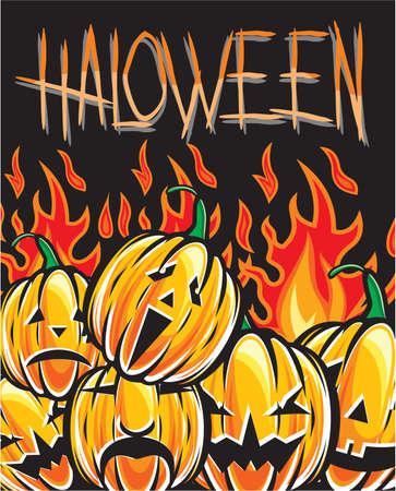 Halloween Pumpkin illustration Stock Vector - 15971600