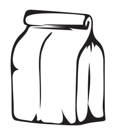 Paper money bag illustration Stock Vector - 15971670