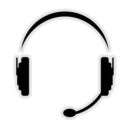 headset business: chiamata in cuffia centro Vettoriali
