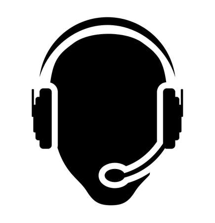 telephone headsets: llamar hombre icono del centro
