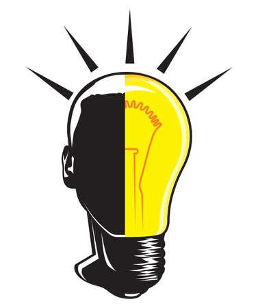 Man bulb idea Stock Vector - 16057678