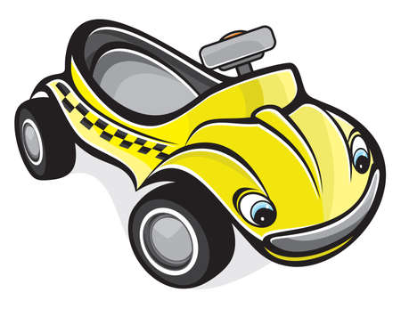 boys toys: cute race car Illustration