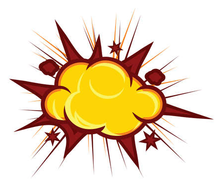 explodindo: Explos?o (fundo Explos?o Comic Book) Ilustra��o