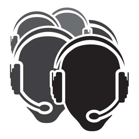 headset business: Call center vettore icona Vettoriali